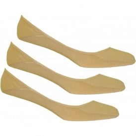 3-Pack No-Show Shoe-Liner Socks, Nude