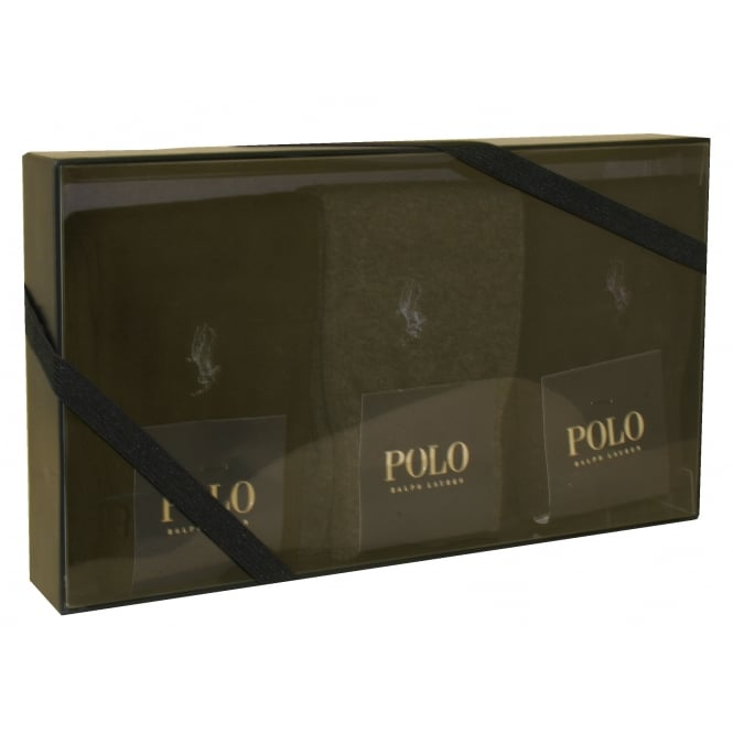 Polo Ralph Lauren 3-Pack Socks with Pony Player, Navy/Black/Grey