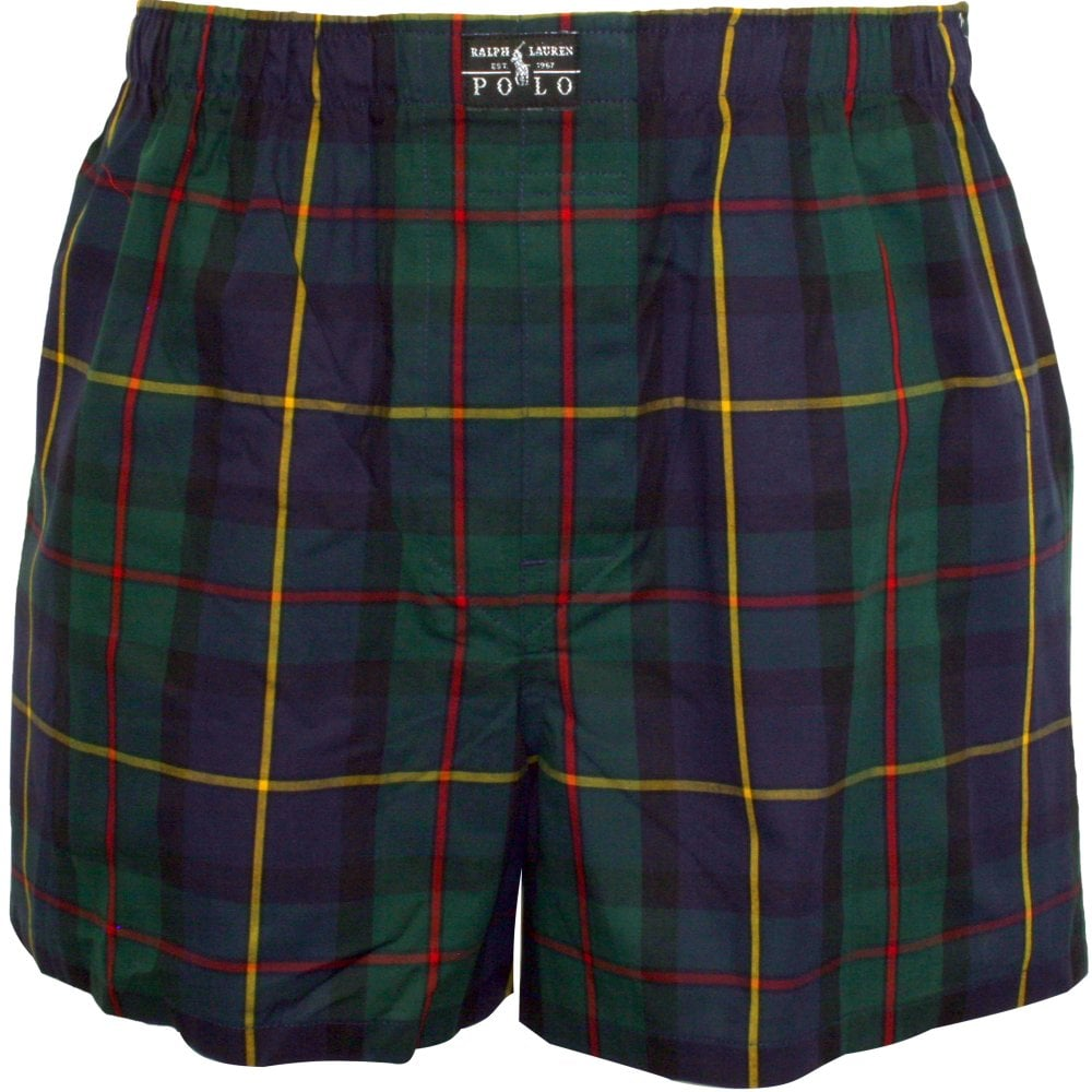12024d09f504db Herrenmode Polo Ralph Lauren Green Plaid Check Boxer Shorts Woven Underwear  Gift