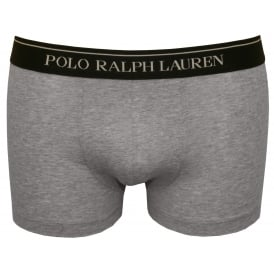 Classic Boxer Trunk, Heather Grey with navy