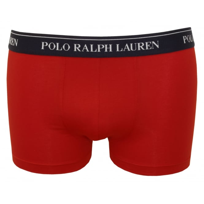 Polo Ralph Lauren Classic Boxer Trunk, Red with navy