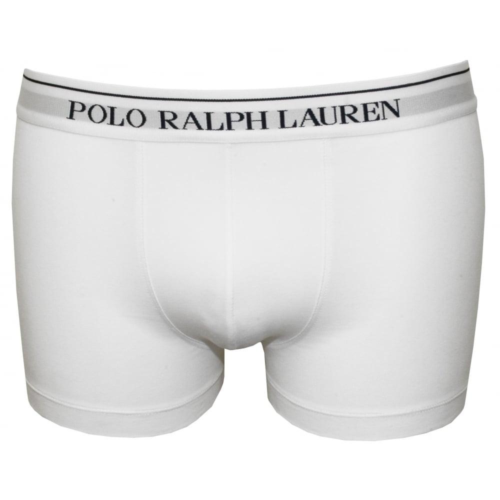 50144030b3 Polo Ralph Lauren Classic Boxer Trunk, White | UnderU