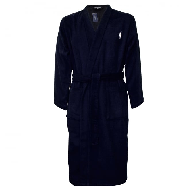 Polo Ralph Lauren Classic Designer Bathrobe, Navy