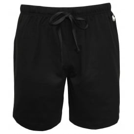 Classic Jersey Cotton Lounge Shorts, Black