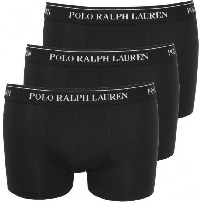 8f9c09f30d01be Polo Ralph Lauren Cotton Stretch Triple Pack Boxer Trunks, Black ...