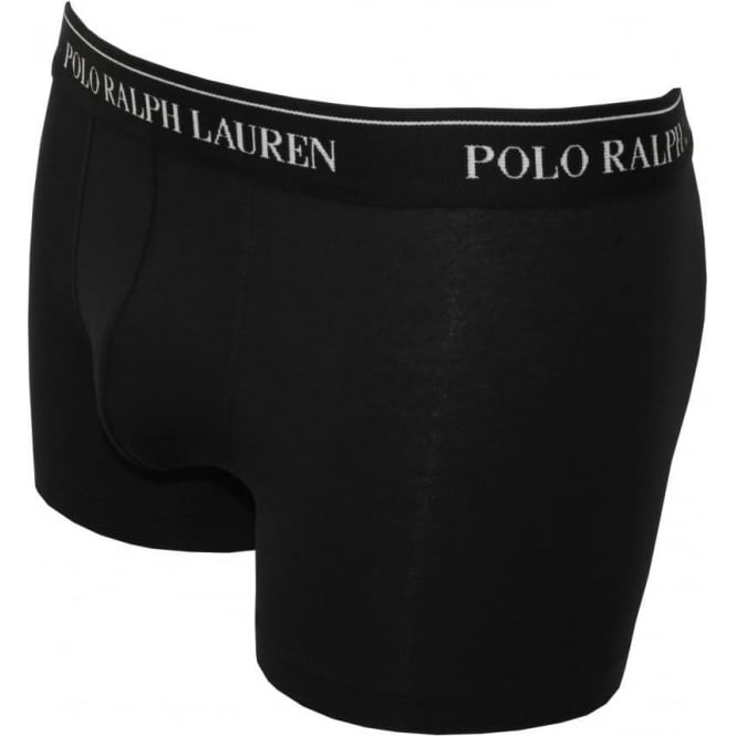 d75e4409ce Polo Ralph Lauren Cotton Stretch Triple Pack Boxer Trunks, Black ...