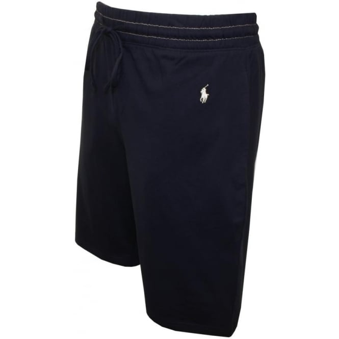 Polo Ralph Lauren Cursive Polo Logo Jersey Lounge Shorts Navy