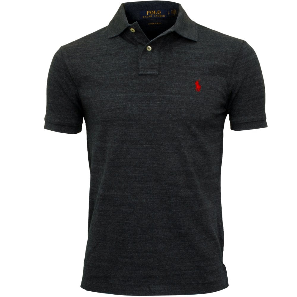 0254c66cc Polo Ralph Lauren Custom Slim-Fit Mesh Polo Shirt, Blue | UnderU