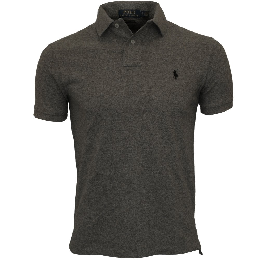 2682f863 Polo Ralph Lauren Custom Slim-Fit Mesh Polo Shirt, Grey | UnderU