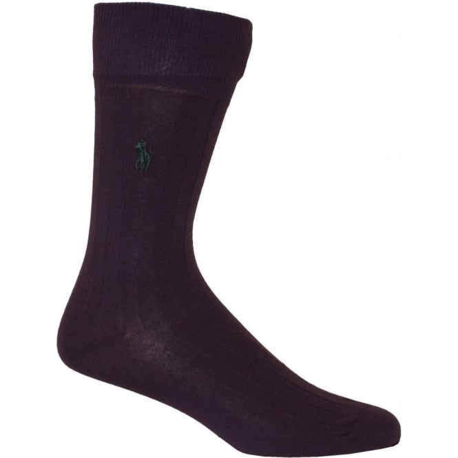Polo Ralph Lauren Egyptian Cotton Ribbed Socks, Purple