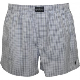 Fitted Stretch Cotton Blackstone Plaid Boxer Shorts