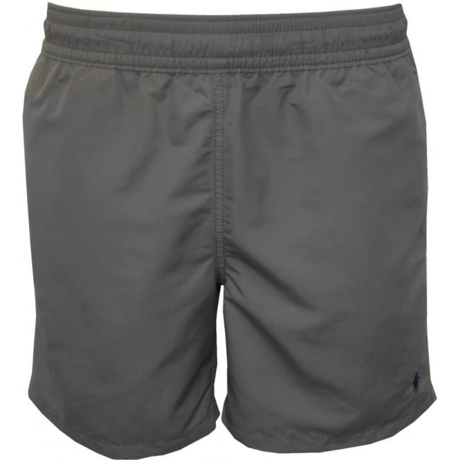 30f7dd21f6 Polo Ralph Lauren Hawaiian Swim Shorts, Dark Grey | UnderU