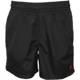 Hawaiian Swim Shorts in Polo Black