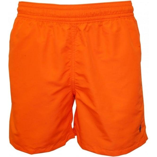 5635164d96 Polo Ralph Lauren Hawaiian Swim Shorts, Resort Orange   UnderU