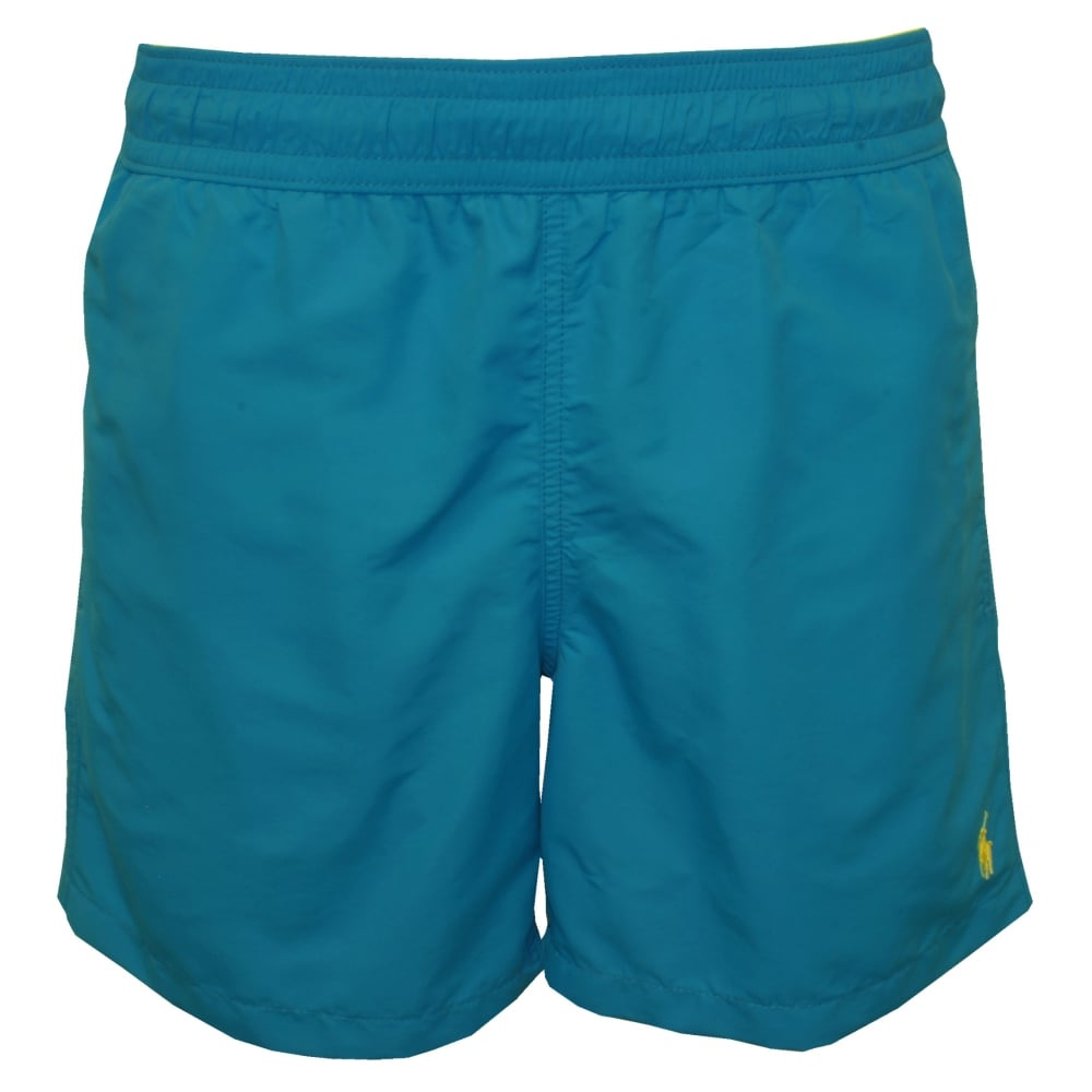 5083e0ca8d Polo Ralph Lauren Hawaiian Swim Shorts, Turquoise Blue   UnderU