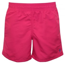 Hawaiian Swim Shorts, Vibrant Pink
