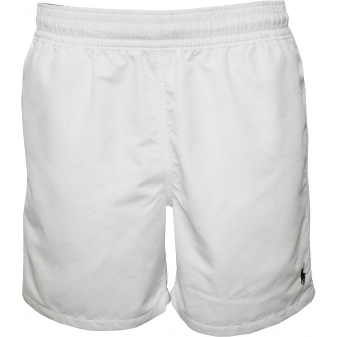 87d5ad16a4 Polo Ralph Lauren Hawaiian Swim Shorts, White | UnderU