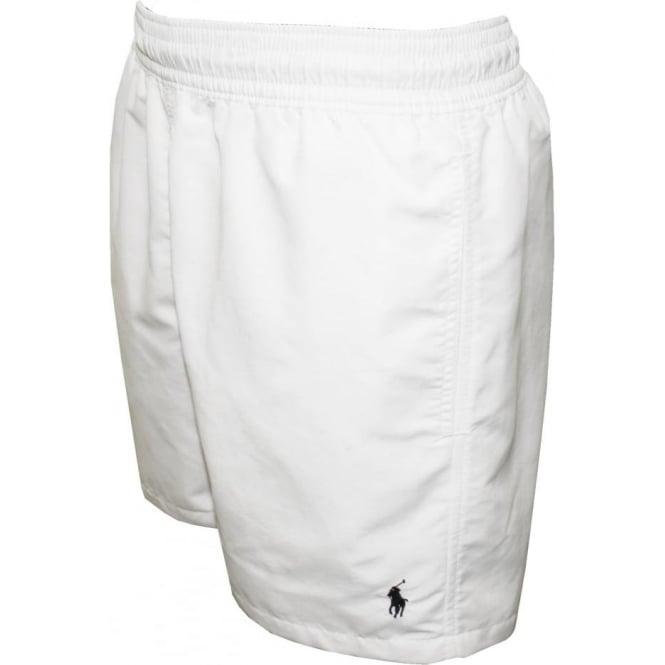 Hawaiian Swim Shorts, White
