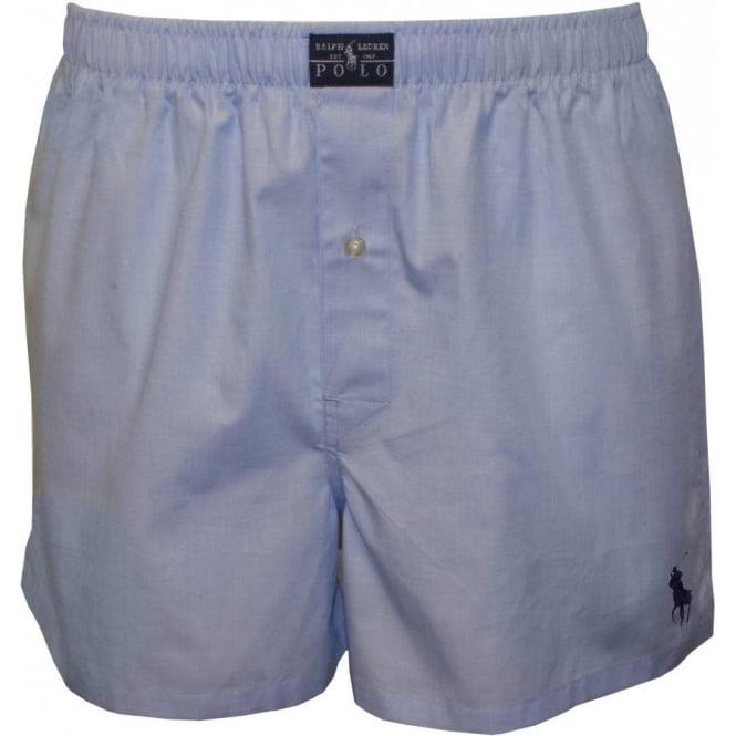 Polo Ralph Lauren Heritage Oxford Woven Boxer Short, Sky Blue