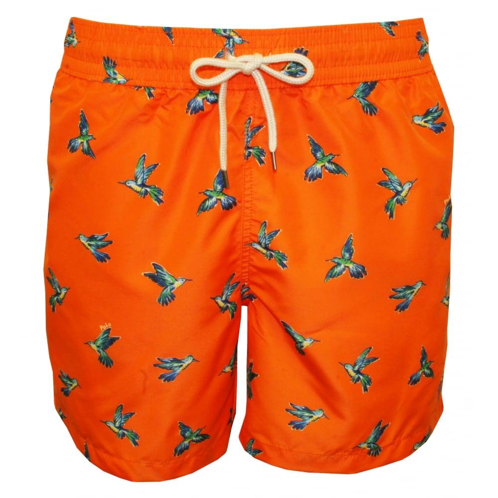 sneakers first look stable quality Polo Ralph Lauren Hummingbirds Traveller Swim Shorts, Orange   UnderU