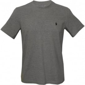 Jersey Cotton Crew-Neck T-Shirt, Heather Grey