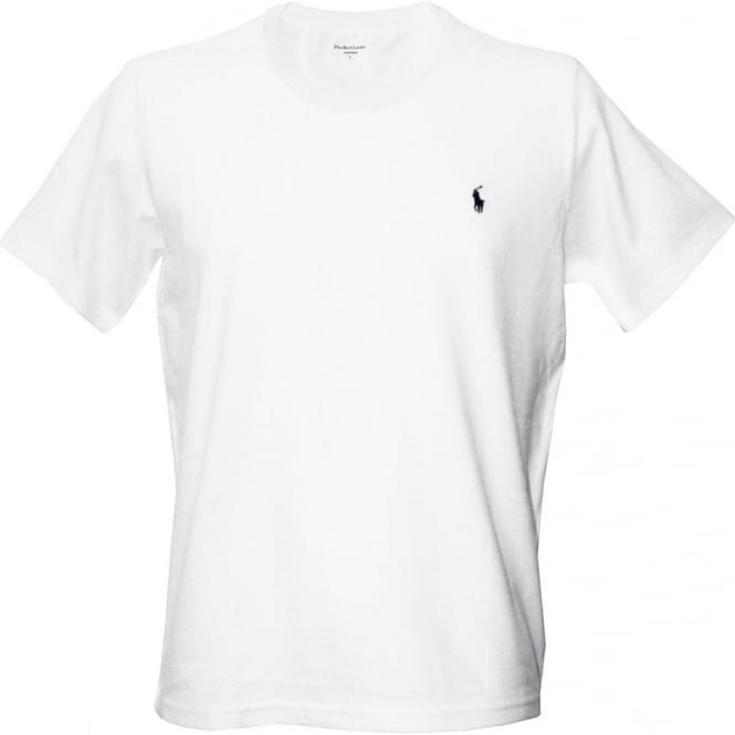 Mens White Crew Neck T Shirts