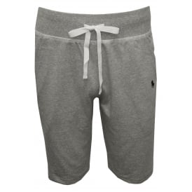 Jersey Jogging Shorts, Heather Grey with navy
