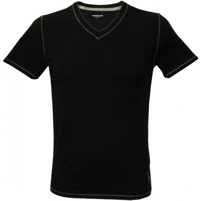 Polo Ralph Lauren Jersey Tournament V-Neck T-Shirt, Polo Black