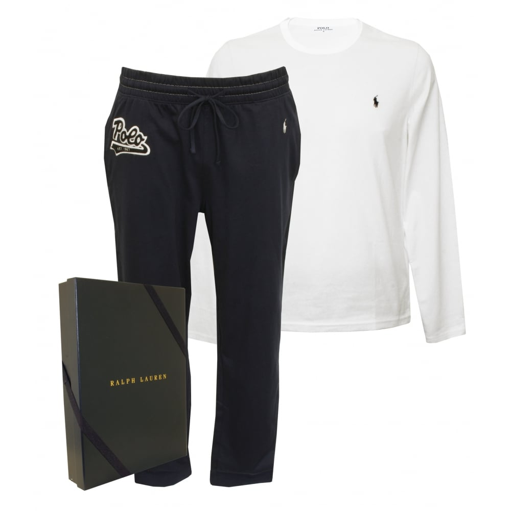 Polo Ralph Lauren Long-Sleeve Crew   Jersey Bottoms Pyjama Gift Set ... cdda15865ad2