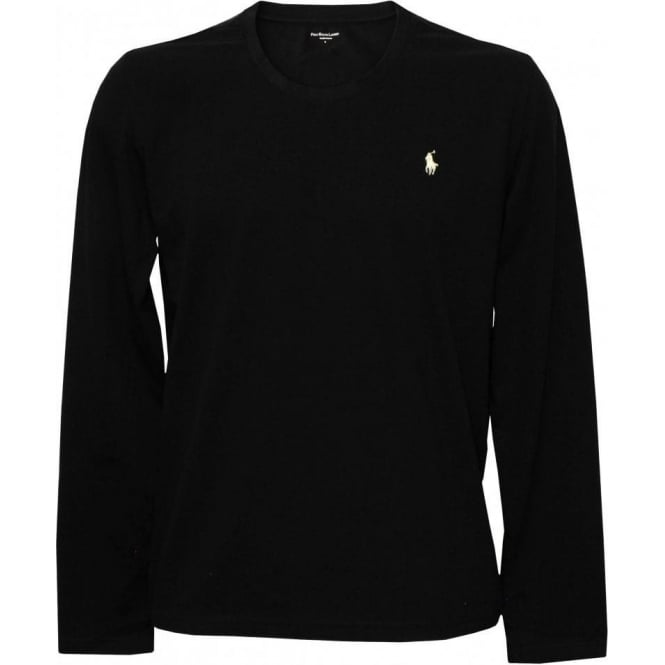 Polo Ralph Lauren Long Sleeve Jersey Cotton Crew Neck T-Shirt, Black