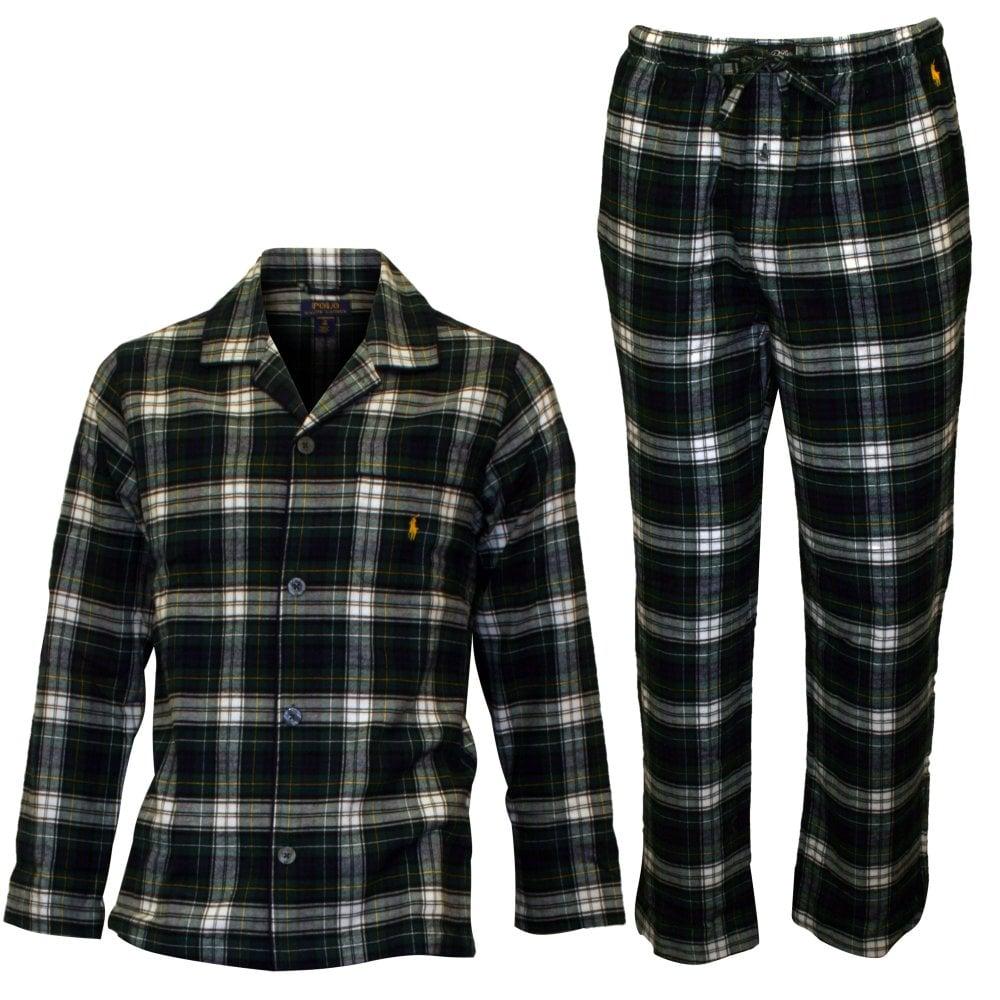 e63c8be42792 Polo Ralph Lauren Brushed Flannel Pyjama Set, Newton Plaid   UnderU