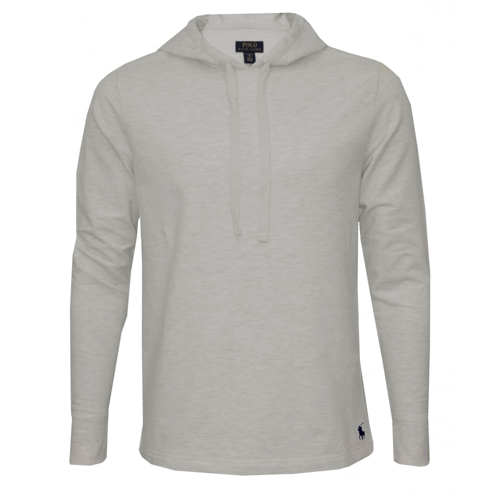08edbe07 Luxe Brushed Jersey Hoodie, Oatmeal Heather with navy polo player