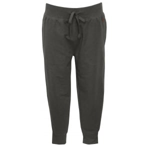 Luxe Brushed Jersey Jogging Bottoms, Charcoal with Red Polo Player