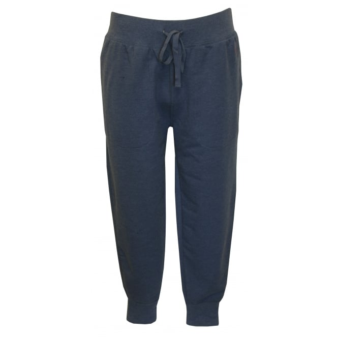 Polo Ralph Lauren Luxe Brushed Jersey Jogging Bottoms, Derby Blue with Red Polo Player