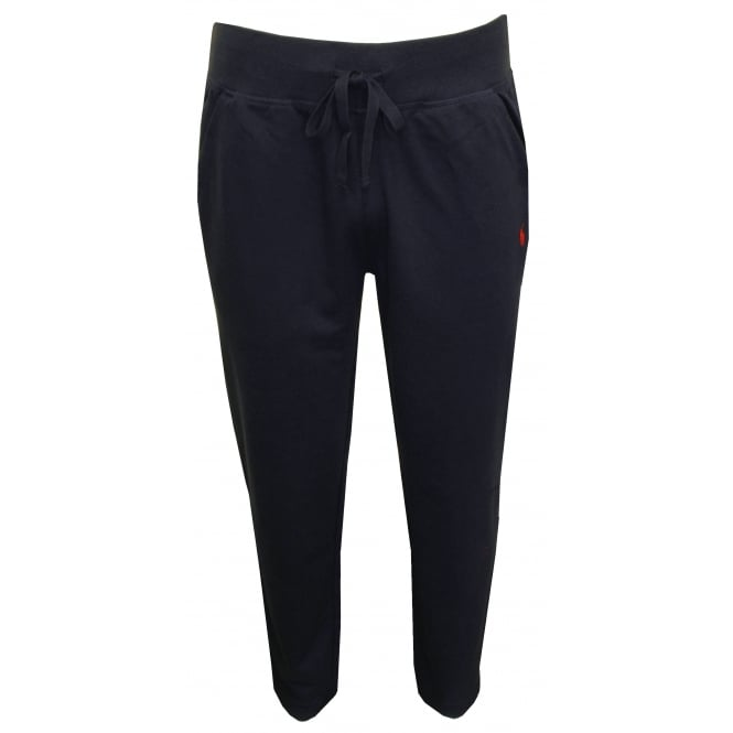 Polo Ralph Lauren Luxe Brushed Jersey Jogging Bottoms, Navy with Red Polo Player