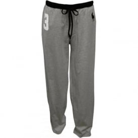 No.3 Lounge Pants with Large Pony Player, Grey