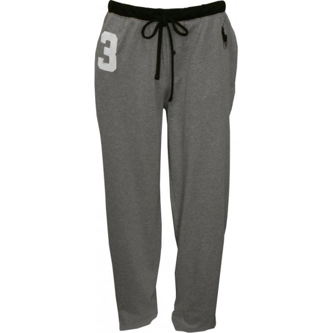 Polo Ralph Lauren No 3 Lounge Pants With Large Pony Player Grey