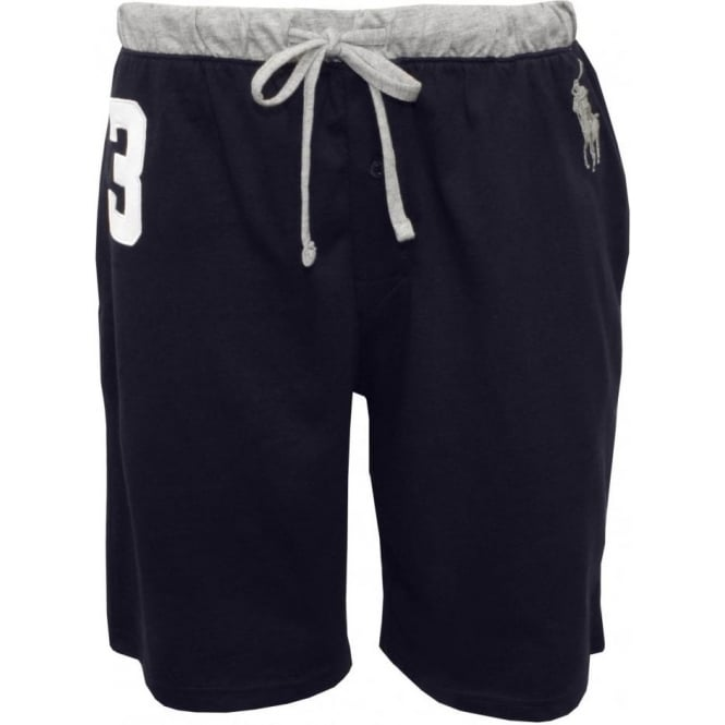 Polo Ralph Lauren No.3 Lounge Shorts with Large Pony Player, Navy/Grey