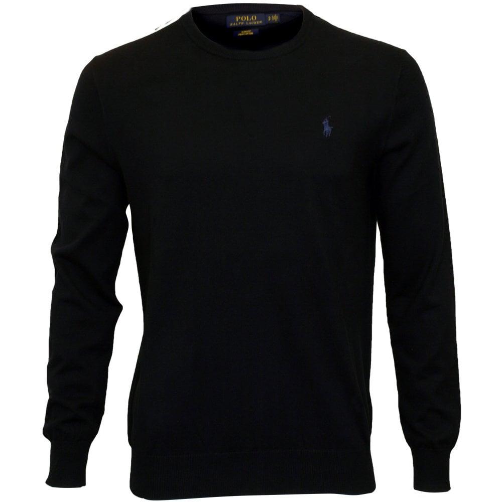 3fd472c21 Polo Ralph Lauren Pima Cotton Slim-Fit Knitted Jumper, Navy | UnderU