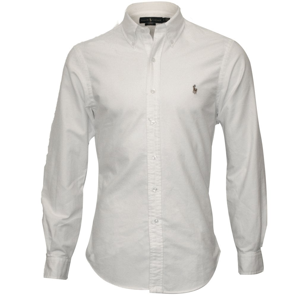f2a5c3d83fc8 Polo Ralph Lauren Slim-Fit Oxford Shirt, White | UnderU