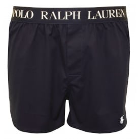 Slim-Fit Signature Boxer Short, Navy with white