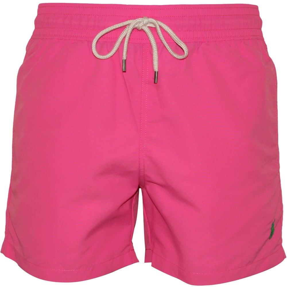 430368aba8 Polo Ralph Lauren Slim-Fit Traveller Swim Shorts, Maui Pink | UnderU