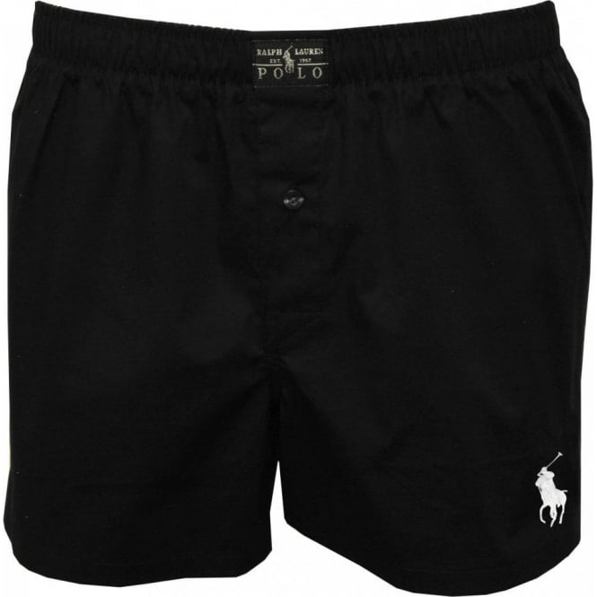 polo ralph lauren boxers with stretch poplin polo black. Black Bedroom Furniture Sets. Home Design Ideas