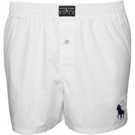 Stretch Poplin Woven Boxer Short, White