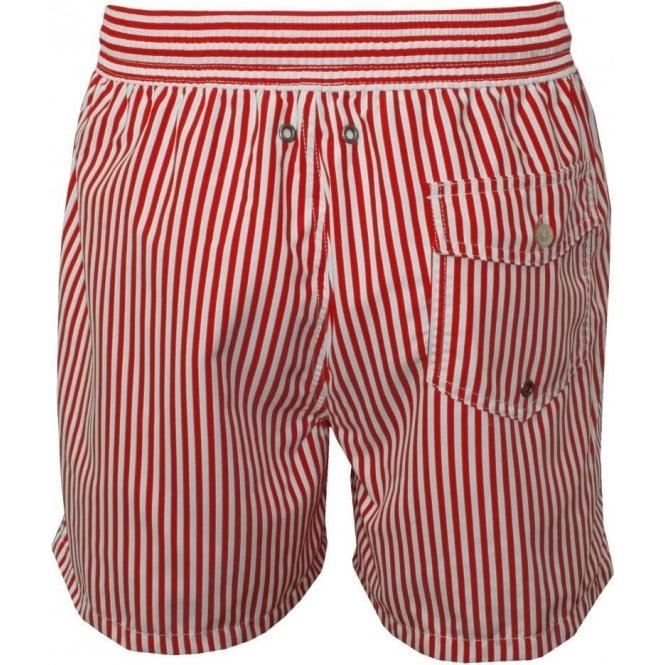 20b9684e47 Polo Ralph Lauren Stripe Swim Shorts, Red/White | UnderU