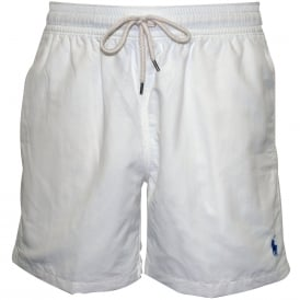 Traveller Swim Shorts, Classic White
