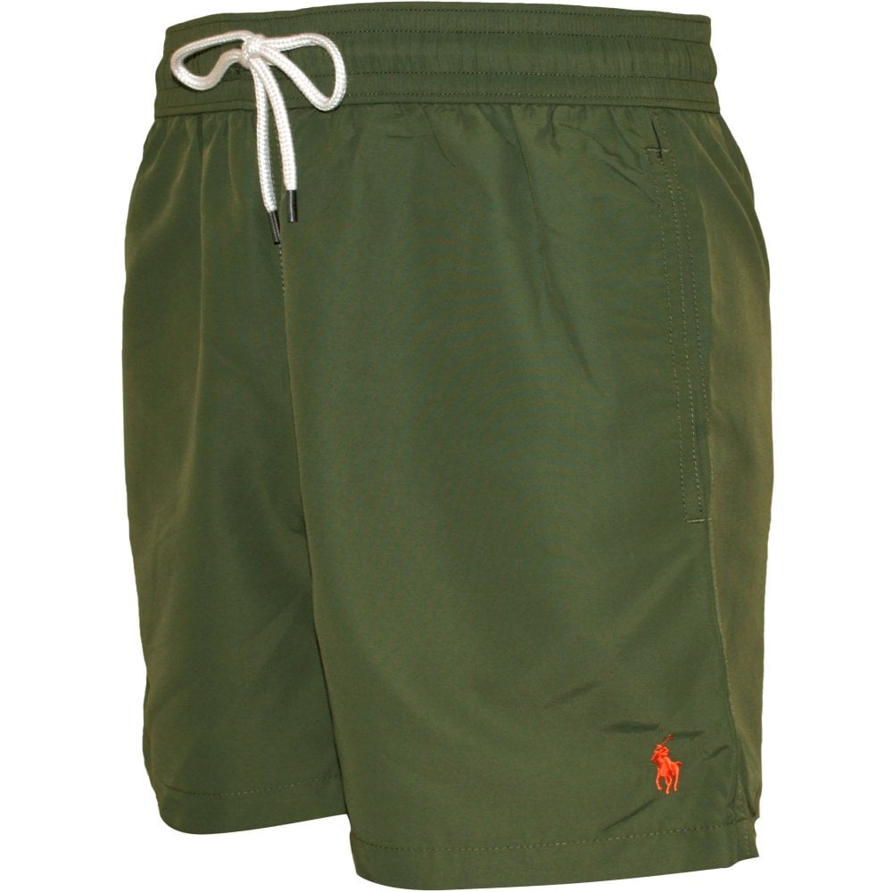 b0500fe1b0 Polo Ralph Lauren Traveller Swim Shorts, Olive Green | UnderU
