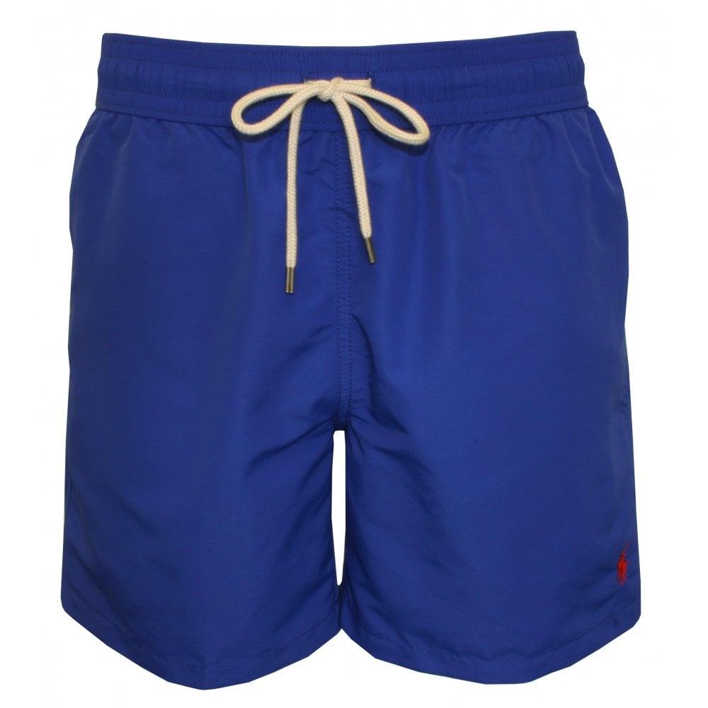 8d1258babc Polo Ralph Lauren Traveller Swim Shorts, Rugby Royal Blue   UnderU