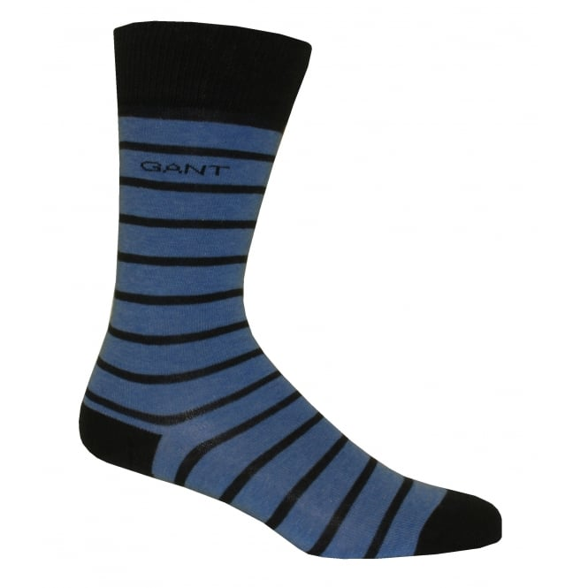 Gant Premium Breton Stripe Soft Cotton Socks, Blue/Navy