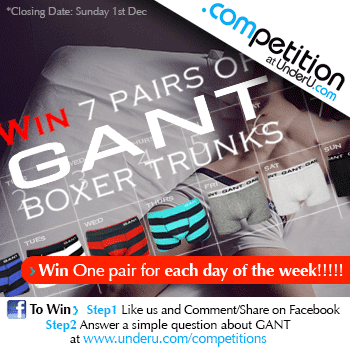 Win a pair of GANT boxer trunks for each day of the week!!